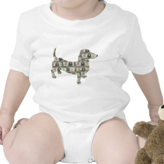 Dachshund Wall Street del dinero Trajes De Bebé