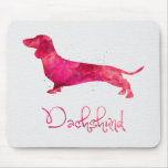Dachshund - Watercolor Design Mouse Pad