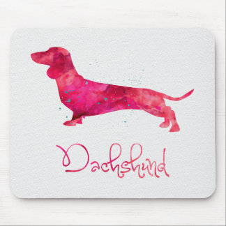 Dachshund - Watercolor Design Mouse Pads