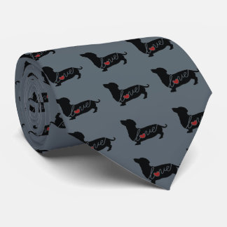 "Dachshund ""Weiner Dog"" Love Neck Tie"
