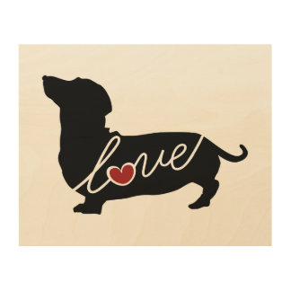 "Dachshund ""Weiner Dog"" Love Wood Wall Decor"