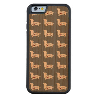 Dachshund-white.png Carved Cherry iPhone 6 Bumper Case