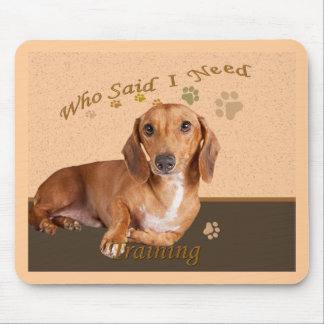 Dachshund Who Said I Need More Training Mouse Pad