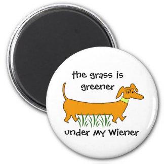 Dachshund Wiener 2 Inch Round Magnet