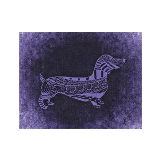 Dachshund Wiener Dog Abstract Art canvas