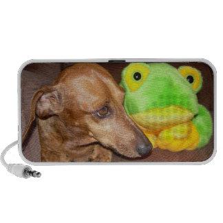 """Dachshund Wiener Dog BFF """"Opposites Attract"""" Portable Speaker"""