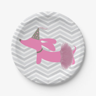 Dachshund Wiener Dog Party Plates 7 Inch Paper Plate