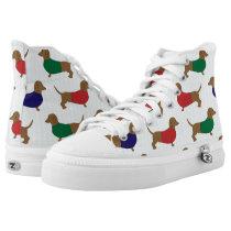 Dachshund Wiener Dog Zipz High Top Sneakers Shoes
