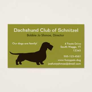 Dachshund (Wire Hair) Business Card