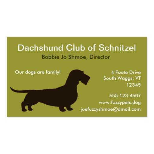 Dachshund (Wire Hair) Business Cards