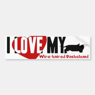 Dachshund [Wire-haired] Bumper Sticker