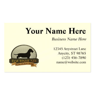 Dachshund [Wire-haired] Business Card Templates