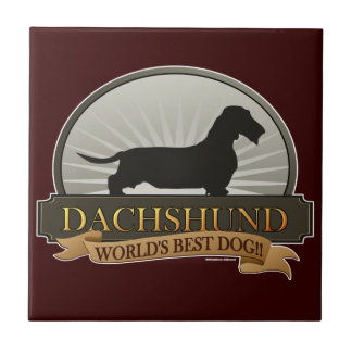 Dachshund [Wire-haired] Ceramic Tile