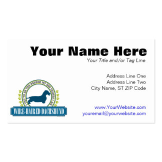 Dachshund [wire haired] Double-Sided standard business cards (Pack of 100)
