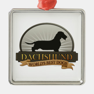 Dachshund [Wire-haired] Metal Ornament