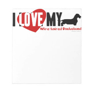 Dachshund [Wire-haired] Notepad
