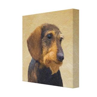 Dachshund (Wirehaired) Canvas Print