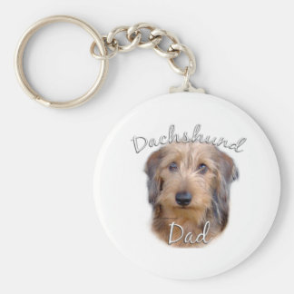 Dachshund (wirehaired) Dad 2 Keychain