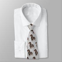 Dachshund Wirehaired Dog Tie