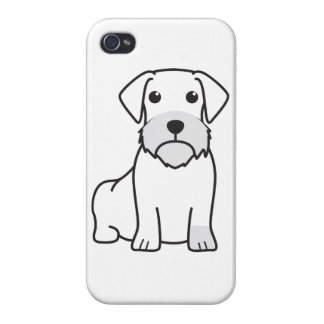 Dachshund Wirehaired iPhone 4 Protectores