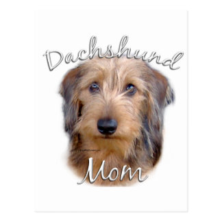 Dachshund (wirehaired) Mom 2 Postcard