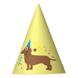 Dachshund with Birthday Hat