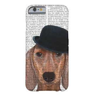 Dachshund with Black Bowler Hat Barely There iPhone 6 Case