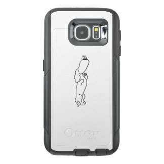 Dachshund with Butterfly OtterBox Samsung Galaxy S6 Case
