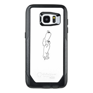 Dachshund with Butterfly OtterBox Samsung Galaxy S7 Edge Case