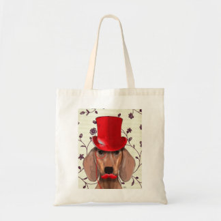 Dachshund With Red Top Hat Tote Bag