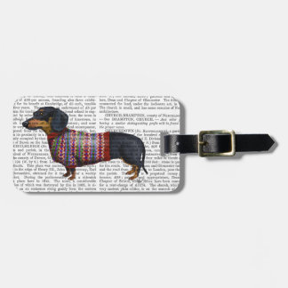 Dachshund With Woolly Sweater Bag Tag