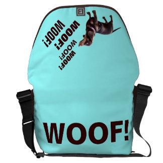 Dachshund Woof Woof Woof messenger bag