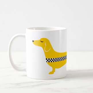 Dachshund Yellow Cab Coffee Mug