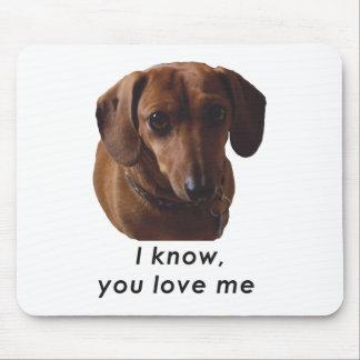 Dachshund YO que conozco que usted me ama Mousepad