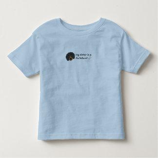DachshundBlackTanSister Toddler T-shirt