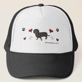 DachshundBlk Trucker Hat