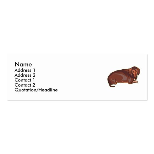 Dachshundnt Double-Sided Mini Business Cards (Pack Of 20)