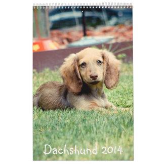 Dachshunds 2014 calendarios de pared