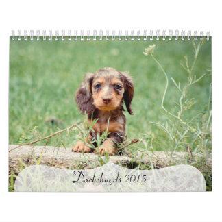 Dachshunds 2015 calendario de pared
