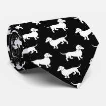 Dachshunds All Over Neck Tie