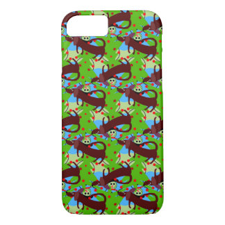 Dachshunds and Snowman Design on iPhone 7 Case