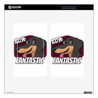 Dachshunds are 100% Fantastic Kindle Fire Decals