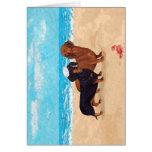 Dachshunds at the Beach Greeting Card