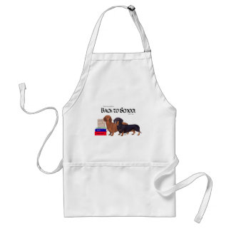 Dachshunds Back to School Adult Apron