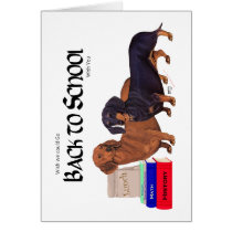 Dachshunds Back to School Card