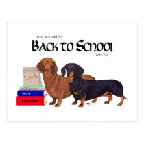 Dachshunds Back to School Postcard