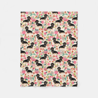 Dachshunds blanket - cute floral doxie dog