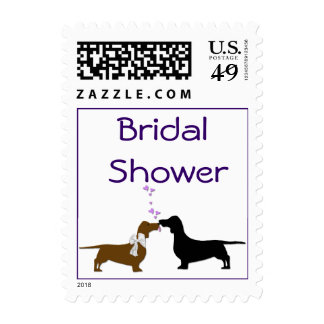 Dachshunds Bridal Shower Stamps