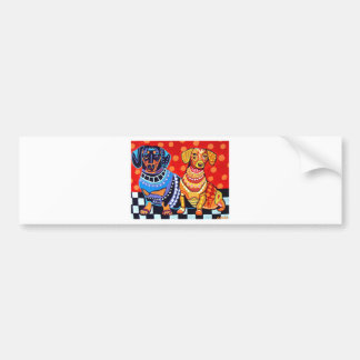 Dachshunds by Heather Galler Bumper Stickers