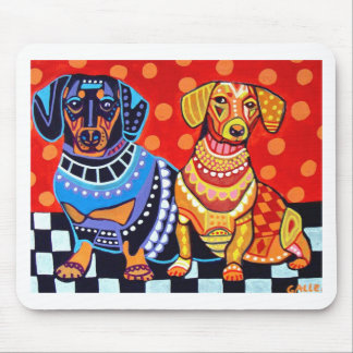 Dachshunds by Heather Galler Mouse Pads
